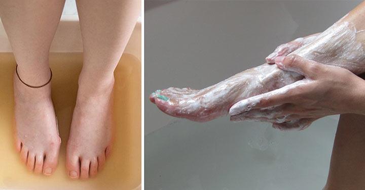 На протяжении 2 недель она втирала в ноги соду. Результат просто впечатляет!