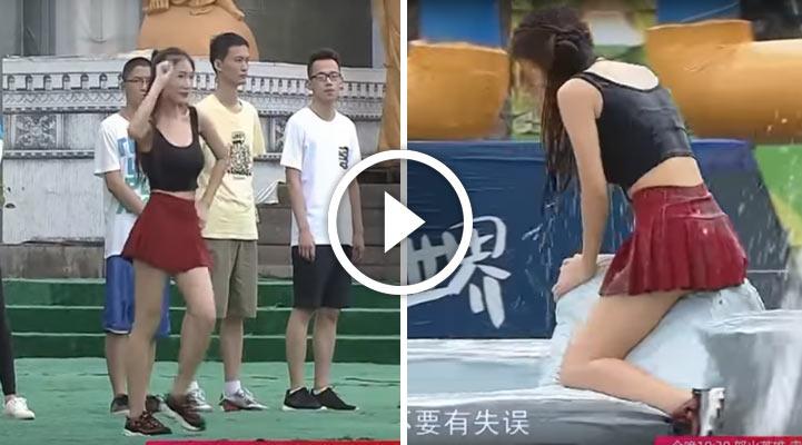 Китаянка в одно мгновение стала звездой Сети, выбрав «не совсем правильную» одежду для участия в известном шоу