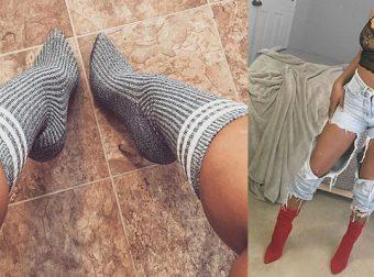 Модницы сошли с ума: носки поверх туфель — новый сногсшибательный тренд!
