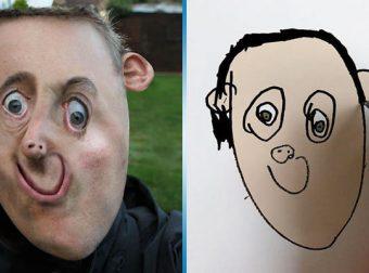 Отец превращает рисунки своего 6-летнего сына в реальные фотографии. Результат пугает и смешит одновременно
