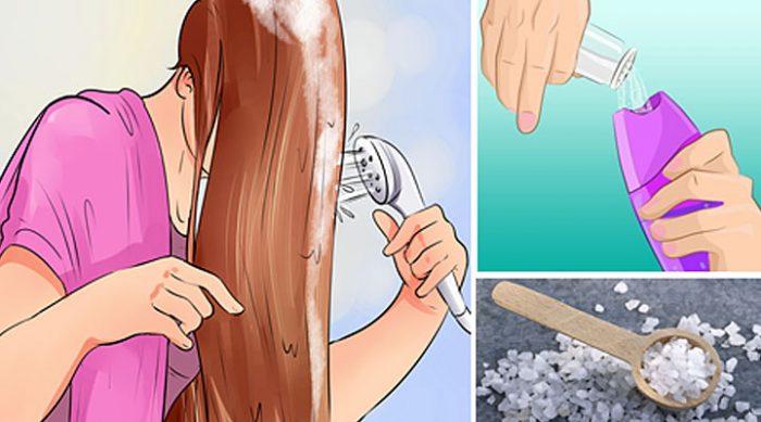 Она насыпала соль в шампунь. Моментальный результат удивил всех!