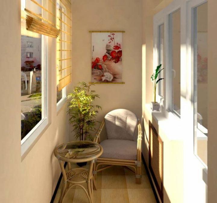 Интерьер балконов маленьких фото