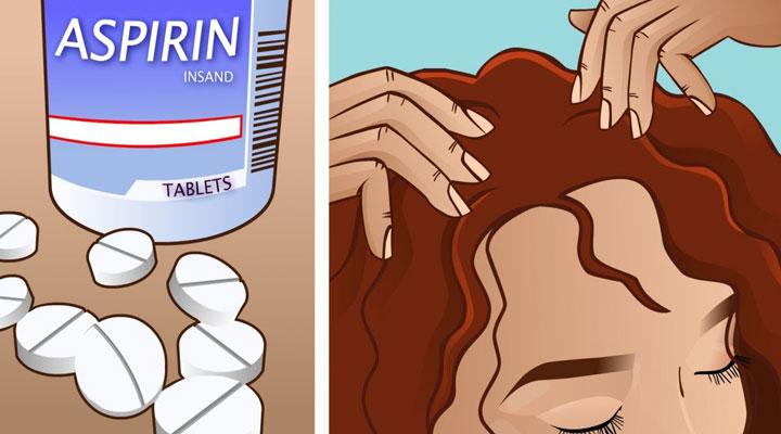 Она раскрошила таблетку аспирина и втерла смесь в волосы. Через неделю все невероятно удивились результату!