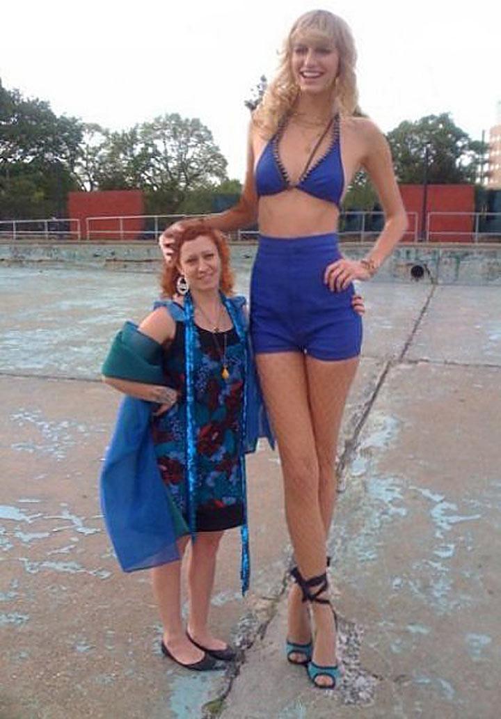 высокая жена видио
