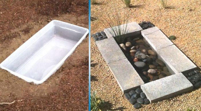 Она взяла пластиковый контейнер и закопала его в саду. Потрясающее решение!