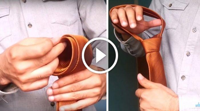 Потрясающий способ безупречно завязать галстук всего за 10 секунд