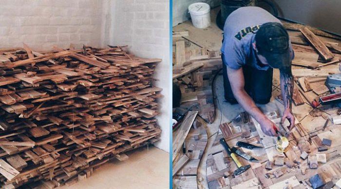 Он собрал 40 мешков дров и принялся за работу. Это кажется невероятным, но результат приводит в полный восторг!
