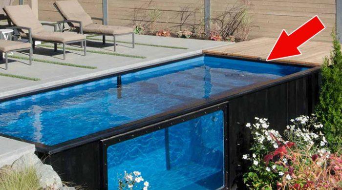 На первый взгляд это обычный бассейн. Но только посмотрите, из чего он сделан!
