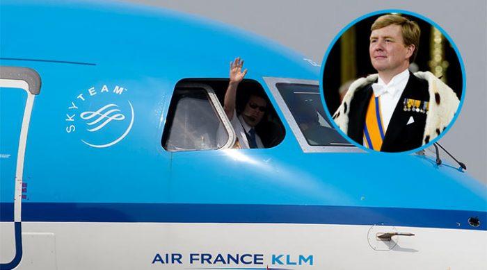 Летаете KLM? Для вас есть потрясающая новость: возможно, вас возит сам… король!
