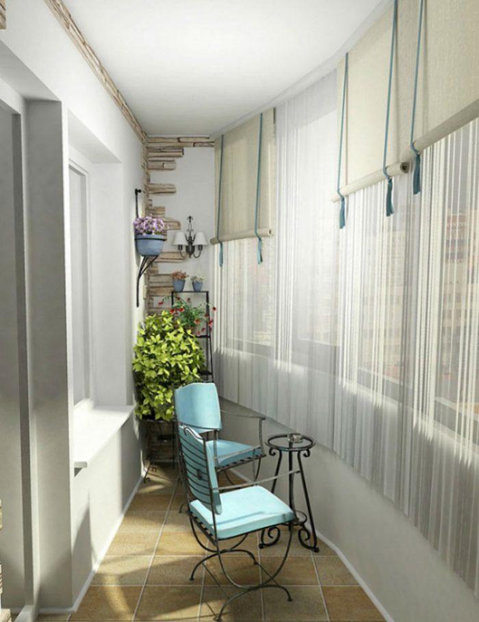 Идеи интерьера балкона с фото.