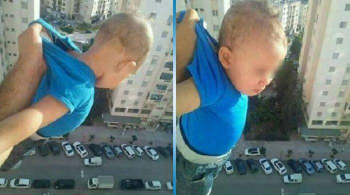 Алжирец держал ребенка за окном 15-го этажа ради лайков. Ожидал ли, что произойдет с ним дальше?