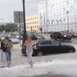 Снег в Петербурге 22 июля? Что же это было?
