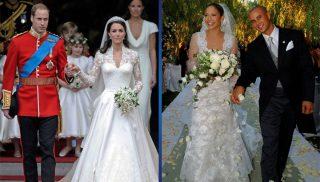 10 исключительно шикарных свадебных платьев известных женщин…