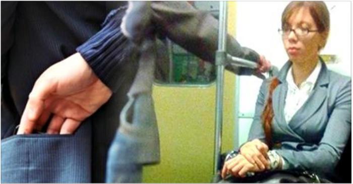 Мужчина заметил «карманницу» в вагоне метро. Но, то, ЧТО она сделала тронуло его до глубины души…Спасибо Вам, девушка!