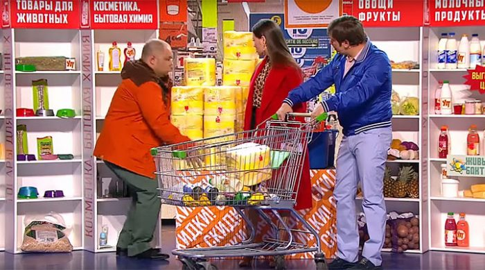 Семейная пара в супермаркете. Убойное видео от Уральских Пельменей