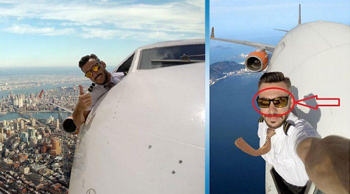 Селфи из окна самолета? Для этого пилота нет ничего невозможного!