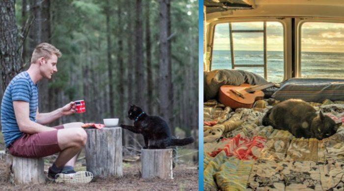 Этот парень путешествует по миру со своей кошкой. И удивительная пара уже стала знаменитой!