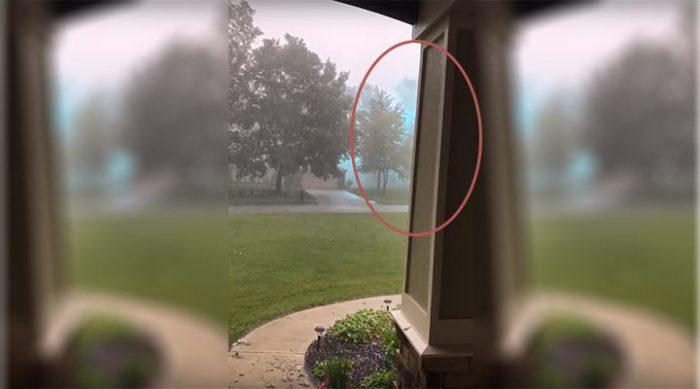 Американец заснял на видео огромнейшую шаровую молнию