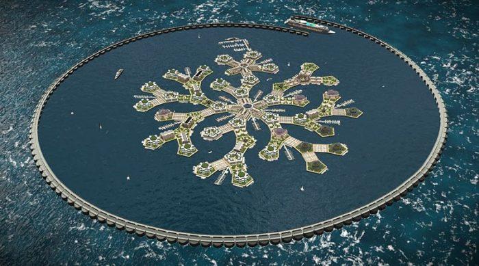 Первый плавающий город появится в Тихом океане в 2020 году. Вот как он будет выглядеть…