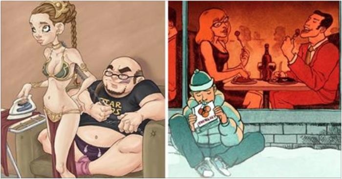 30 глубоких иллюстраций о проблемах современного общества