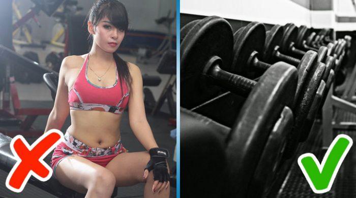 8 вещей, которые нельзя делать в спортзале