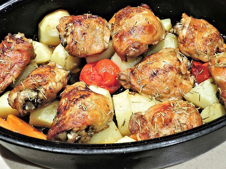 Курица, запеченная с инжиром