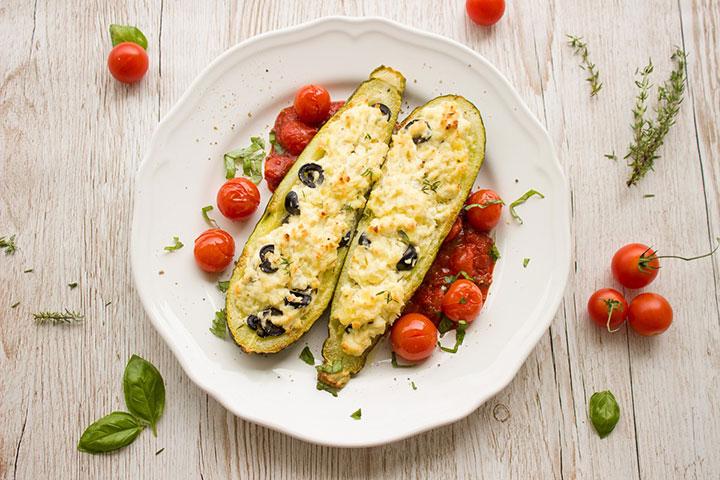 Фаршированные запеченные овощи