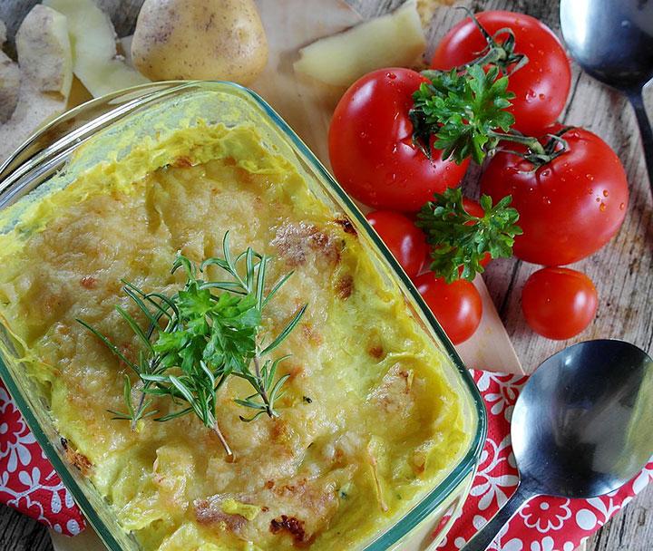 Запеченные овощи с крупами