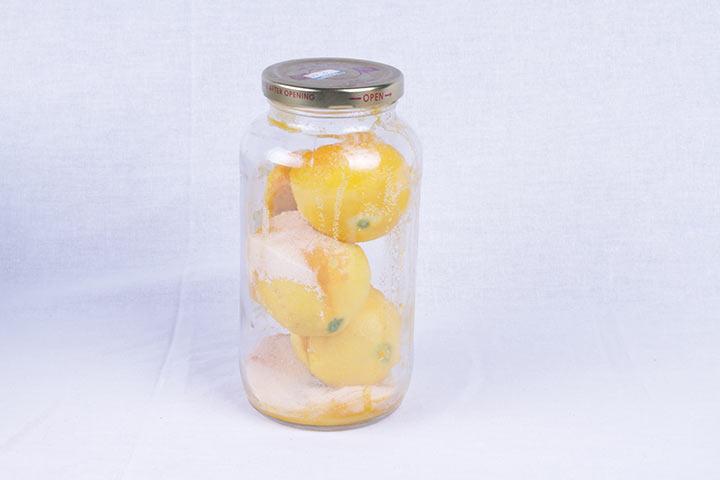 лимон с солью