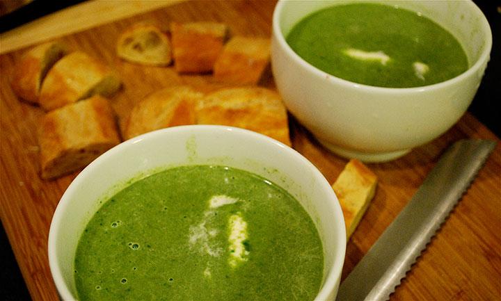 Суп шпинатный