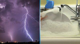 Вот почему вам стоит навсегда отказаться от мытья посуды во время грозы!
